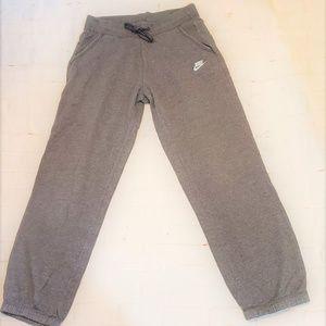 NIKE GRAY SWEAT TRACK PANTS SMALL